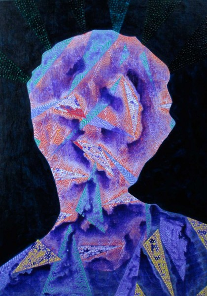 Arie Hellendoorn  Purple Haze , 2014 Acrylic on linen 650 x 500 mm  [Private collection]   _______