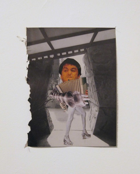 Rob Cherry  Numan is not Bowie , 2014 Collage 305 x 230 mm   _______