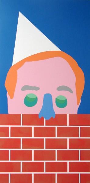 Wayne Youle  The Pesky Neighbour , 2014 Acrylic on board 1200 x 602 mm  _______