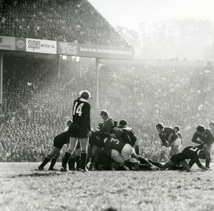 Ans Westra  British Lions vs All Blacks, Athletic Park, Wellington , 1971 Signed silver gelatin print 280 x 280 mm   _______