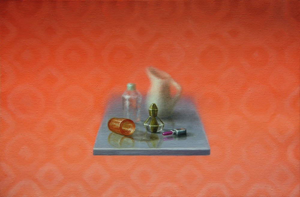Emily Hartley-Skudder  Coral Arrangement,  2013 Oil on calico 152 x 228 mm [Private collection]   _______