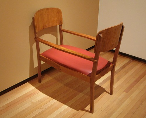 Wayne Youle  The Naughty Chair , 2012 Wood and leather   _______