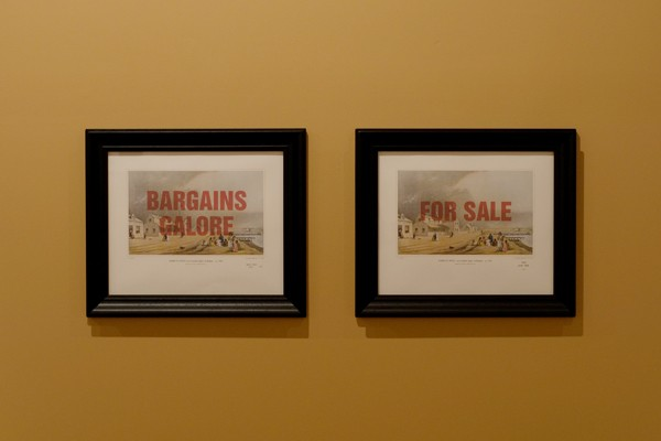 Wayne Youle  Sale, Sell, Buy, Bought , 2010 Framed inkjet print over Samuel Brees print 419 x 505 mm   _______