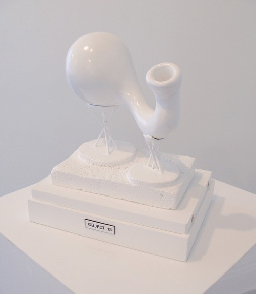 Matt Akehurst  OBJECT 15 , 2012 Polystyrene, plaster, builders filler & paint 270 x 200 x 350 mm   _______