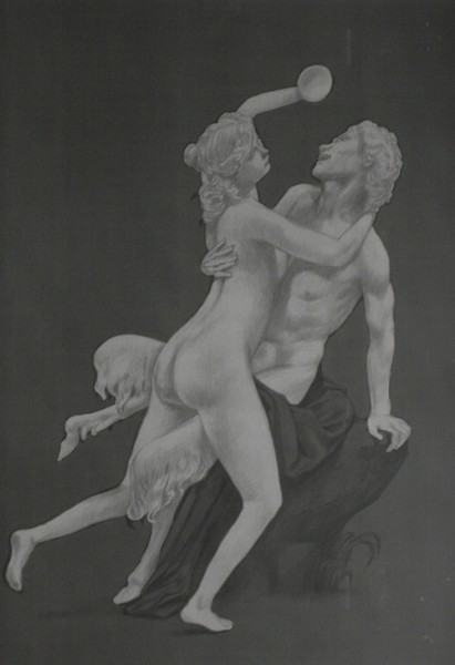 Douglas Stichbury  Nymph and Satyr , 2012 Celluloid and ink 380 x 270 mm   _______