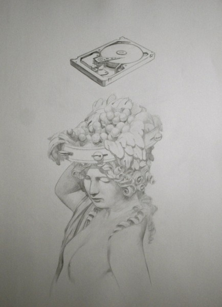 Douglas Stichbury  Seagate Hard Drive,  2012 Pencil drawing 470 x 360 mm   _______