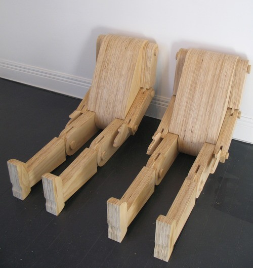 Wayne Youle  Real Boy I & II,  2012 Mixed media 1900 x 600 x 350 mm   _______