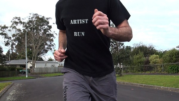 Sean Kerr  Run Artist Run , 2011 DVD film, 16:9 ratio, 7 min loop Edition of 3 + AP   _______