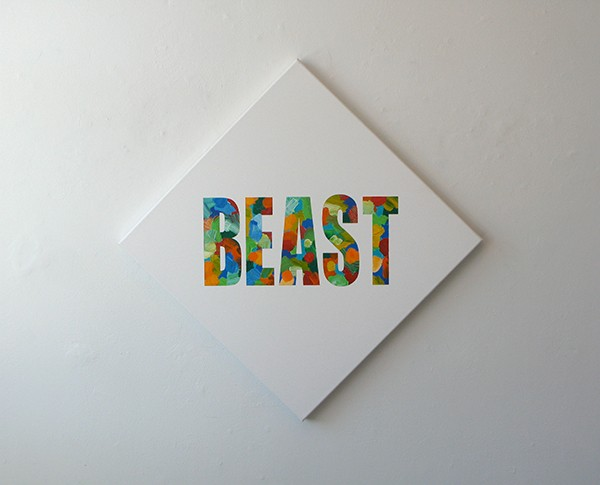 Wayne Youle  Beast , 2011 Acrylic on canvas 600 x 600 mm   _______