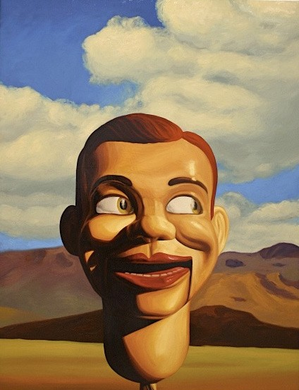 Roger Boyce  Hills Head , 2011  Oil on board 1300 x 1000 mm   _______