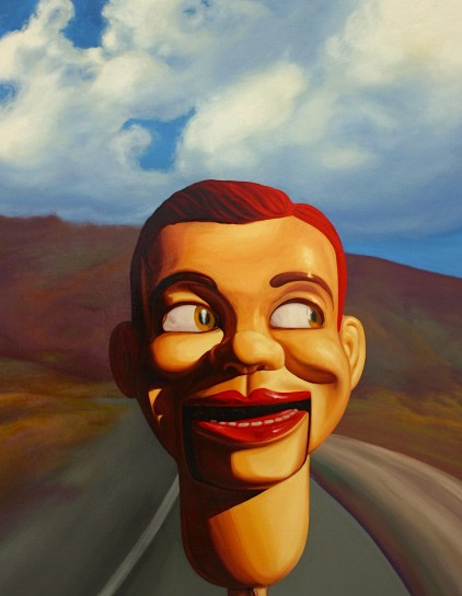 Roger Boyce  Road Head , 2011 Oil on board 1300 x 1000 mm [Private collection]   _______