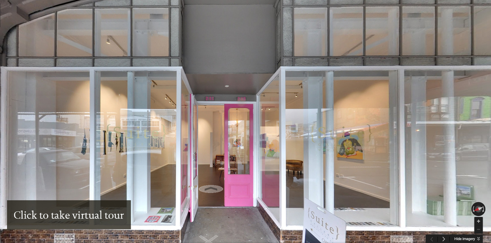 Gallery:241 Cuba Street, Wellington 6011, New Zealand Hours: Tuesday - Friday 11am - 6pm,Saturday 11am - 4pm Phone: + 64 4 976 7663 Email: info@suite.co.nz Owners: David Alsop & Susannah Shaw Established 2007  [Join our mailing list]  [Terms of use] _______