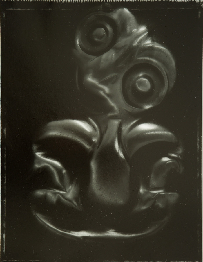 Fiona Pardington  Traditional Heitiki 1953.4.2.4 From The Burnett Collection Whanganui Museum , 2008 Toned silver bromide fibre based print 600 x 500 mm [Private Collection]  _______