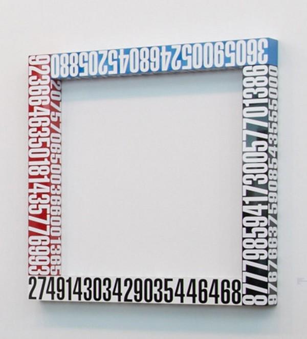 Anton Parsons  Social Circle , 2011 Aluminium, lacquer and vinyl 900 x 900 x 100 mm  _______