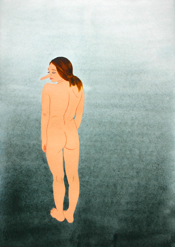 Roger Boyce  Still Standing , 2015 Gouache on paper 420 x 297 mm  _______