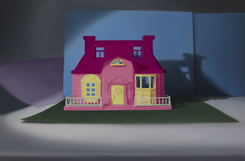 Emily Hartley-Skudder  My Happy Family Villa (Artist's Rendition May Vary) , 2015 Oil on linen 330 x 500 mm [Private collection]  _______