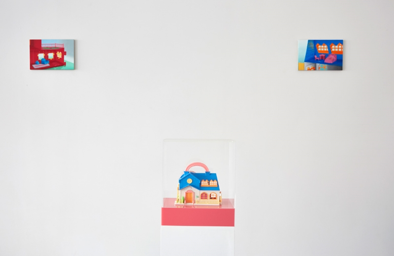 Installation view Emily Hartley-Skudder:  Happiness World,  2015 {Suite}, Wellington  _______