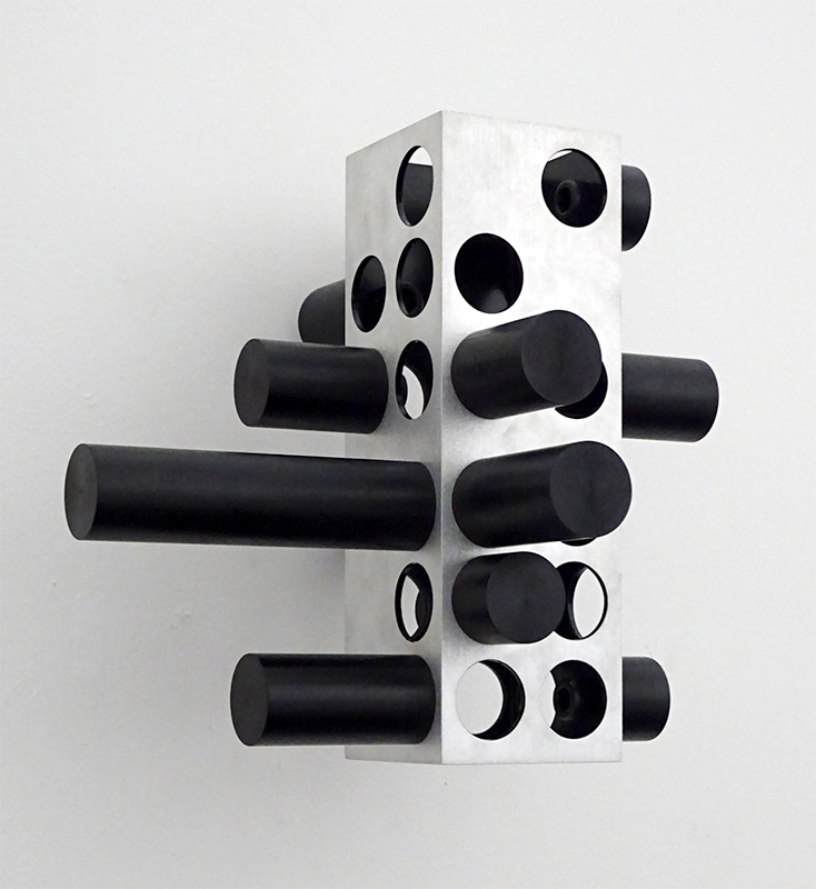 Anton Parsons  Gestalt , 2015 Natural aluminium and steel 230 x 200 x 250 mm [Private collection]  _______