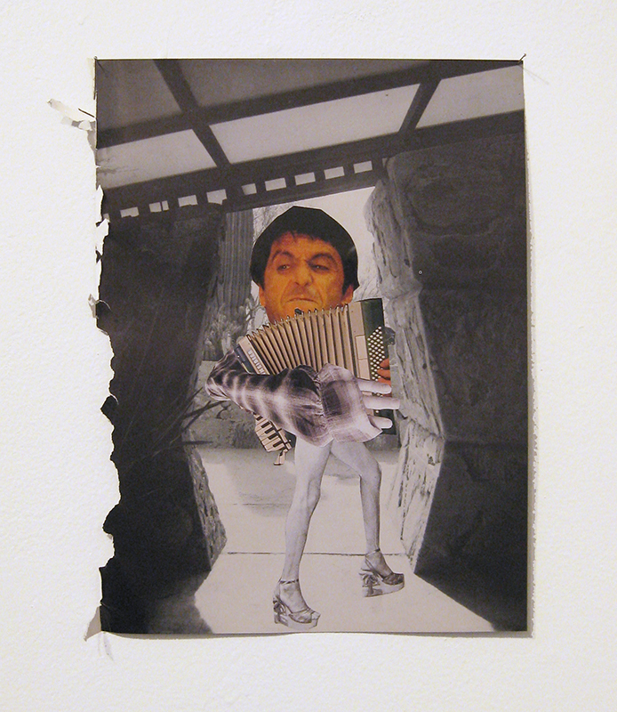 Rob Cherry  Numan is not Bowie , 2014 Collage 300 x 230 mm $420 incl. GST   _______