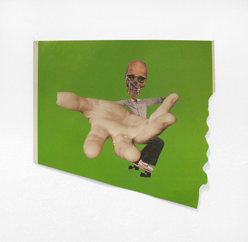 Rob Cherry  Scarecrow , 2014 Collage 215 x 230 mm $320 incl. GST   _______