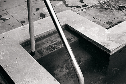 Neil Pardington  Pool , 1999 Framed silver gelatin print 455 x 685 mm $4,500 incl. GST Edition of 10 (+2 AP)  _______