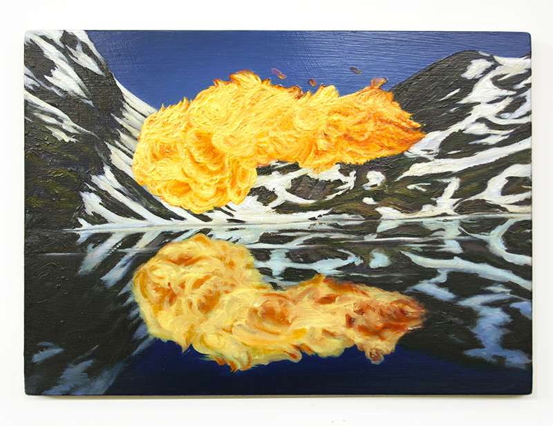Roger Boyce   Oxford Comma , 2012  Oil on board 310 x 430 mm $4,500 incl. GST   _______