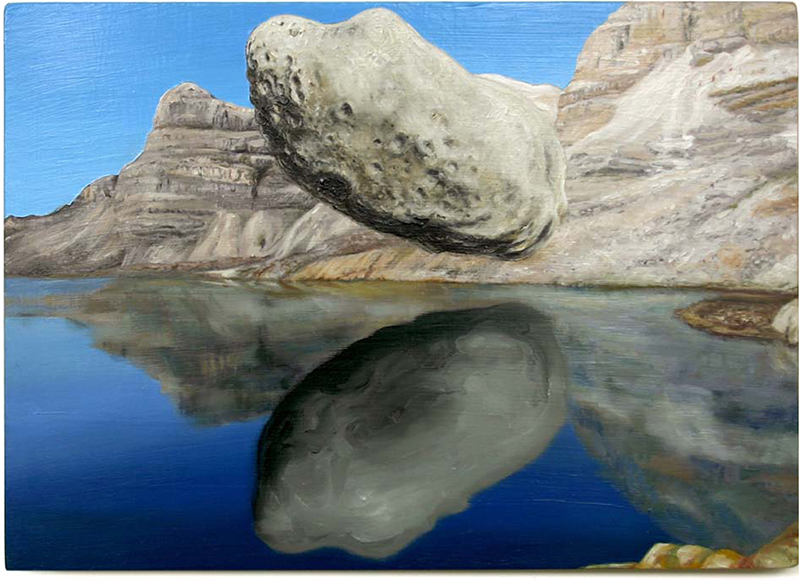 Roger Boyce  Rock to Hide My Face,  2012 Oil on board 310 x 430 mm $4,500 incl. GST   _______