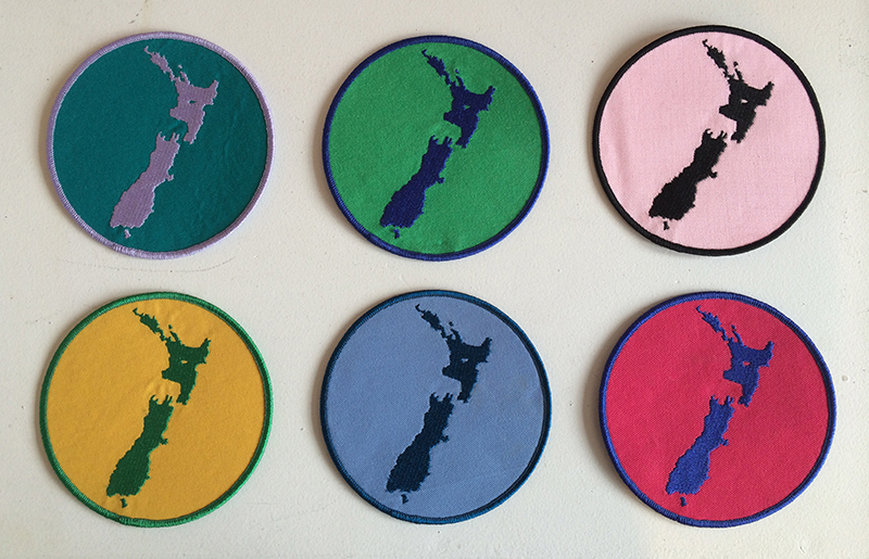 Wayne Youle  Where you stay , 2008 Embroidered Badge 110 mm diameter (each) $50 incl. GST (each)  _______