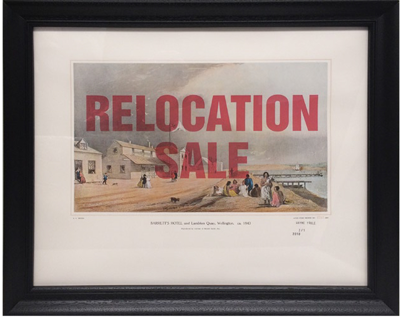 Wayne Youle  Sale, Sell, Buy, Bought , 2010 (Barretts Hotel) (Rita Angus Artist Residency) Set of 15 over-printed Samuel Brees prints $15,000 incl. GST (framed)  _______