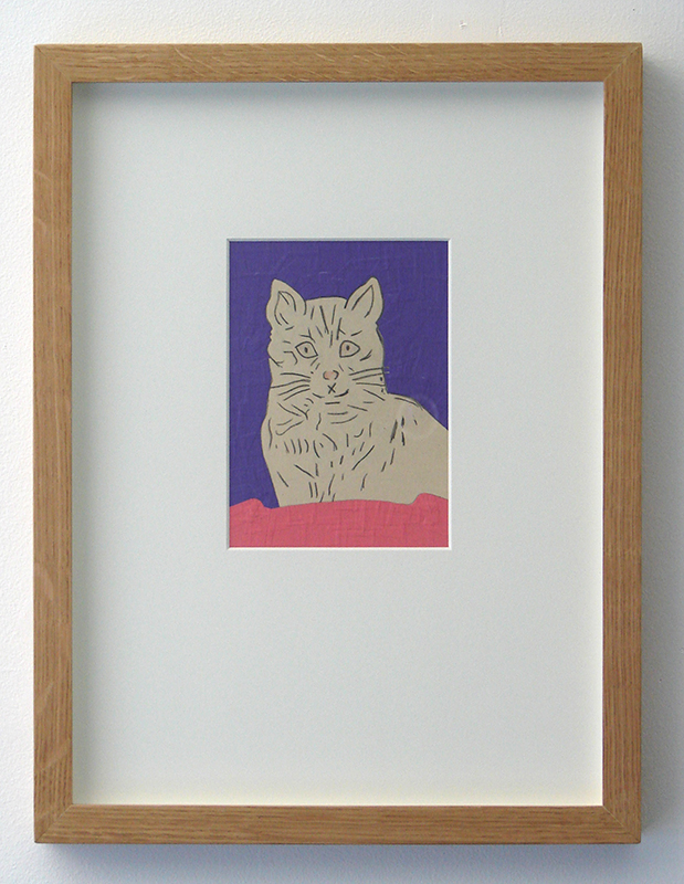 Wayne Youle  LOST CAT , 2012 (Artspace Sydney Residency) Framed sign vinyl on found graphite drawing 160 x 115 mm (image size) $1,200 incl. GST  _______