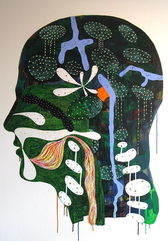 Arie Hellendoorn  Domain , 2011 Acrylic on linen 1150 x 850 mm $6,000 incl. GST  _______