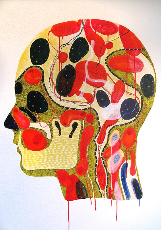Arie Hellendoorn  Big Head , 2011 Acrylic on linen 1120 x 850 mm $6,000 incl. GST  _______