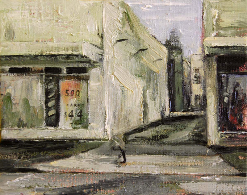 Daniel Unverricht  Hastings alley , 2009 Oil on linen 200 x 250 mm  _______