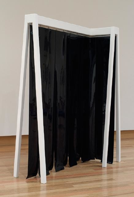 Anton Parsons Jamb (black), 2002 Steel and vinyl [Christchurch Art Gallery Collection]  _______