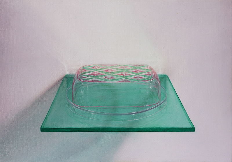 Emily Hartley-Skudder  Soap Dish Wall-Shelf , 2016 Oil on linen 177 x 254 mm [Private collection]  _______