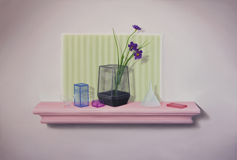 Emily Hartley-Skudder  Shy Rose Wall-Shelf , 2016 Oil on linen 555 x 375 mm [Private collection]  _______