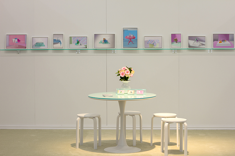 Installation view Emily Hartley-Skudder:  Beauty Small Room  Auckland Art Fair 2016  _______