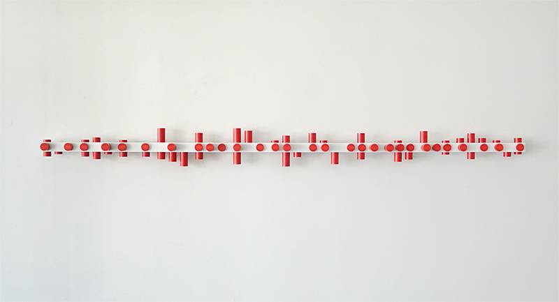 Anton Parsons  Foot Pound Second , 2008 Aluminium, pvc and lacquer 200 x 200 x 2590 mm $9,500 incl. GST  _______
