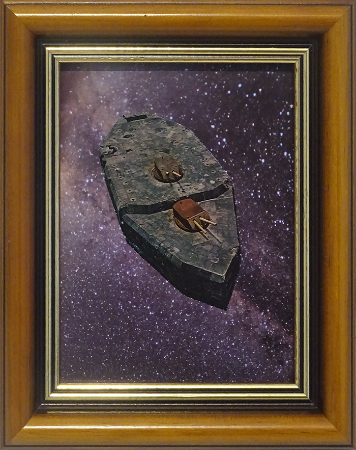 Wayne Youle  Space junk , 2014 Framed found images 160 x 127 mm $800 incl. GST  _______