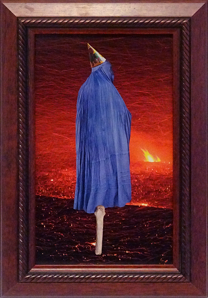 Wayne Youle  There's a fire party going down , 2014 Framed found images 250 x 145 mm $800 incl. GST  _______