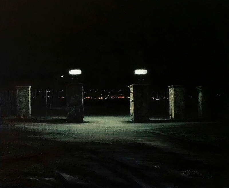 Daniel Unverricht  Park , 2015 Oil on linen 455 x 555 mm [Wellington City Council collection]  _______