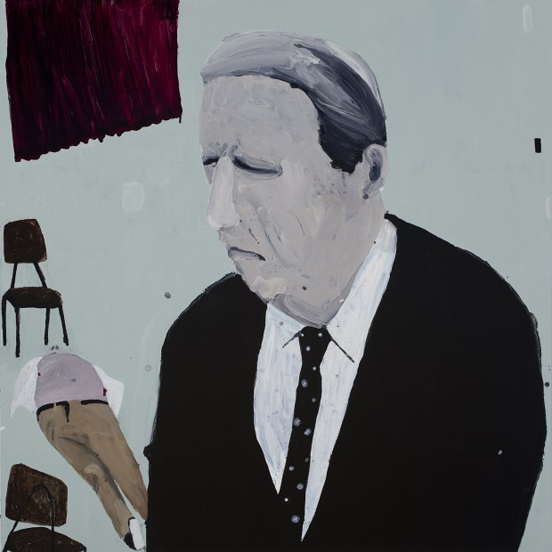 "Richard Lewer  Bill ""The Texan"" Longley , 2011 Oil on canvas 1200 x 1200 mm  _______"