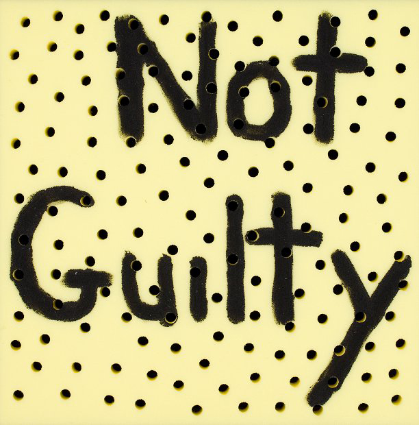 Richard Lewer  Not guilty , 2013 Acrylic on foam 500 x 500 mm  _______