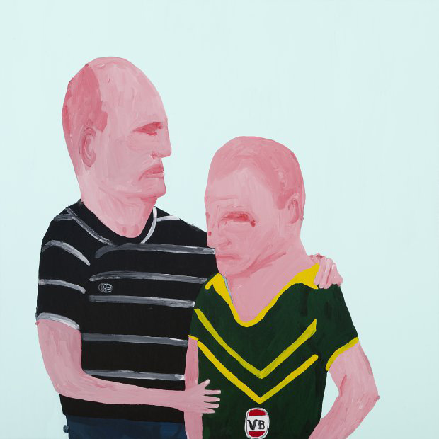 Richard Lewer  Our best wasn't good enough , 2009 Enamel on canvas 650 x 650 mm  _______