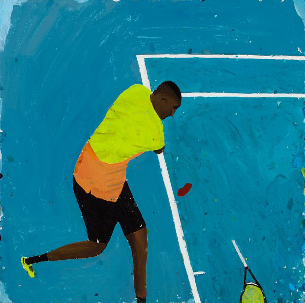 Richard Lewer  The theatre of sports , 2016 Oil on canvas 700 x 700 mm  _______