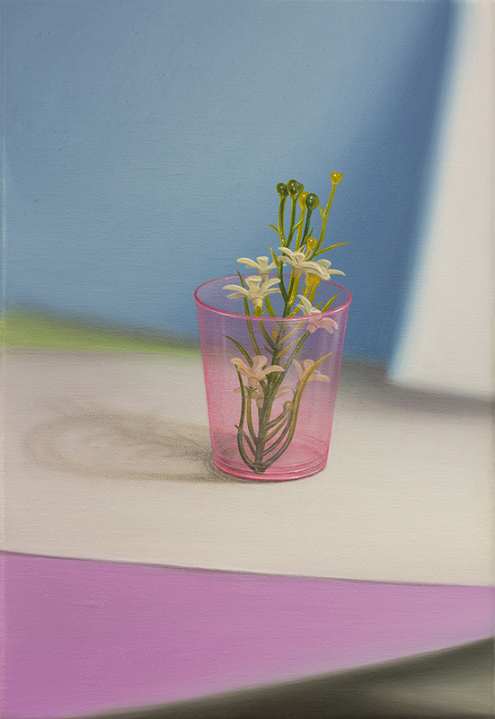 Emily Hartley-Skudder  Flower Dressing , 2016/17 Oil on linen 233 x 160 mm [Private collection]  _______