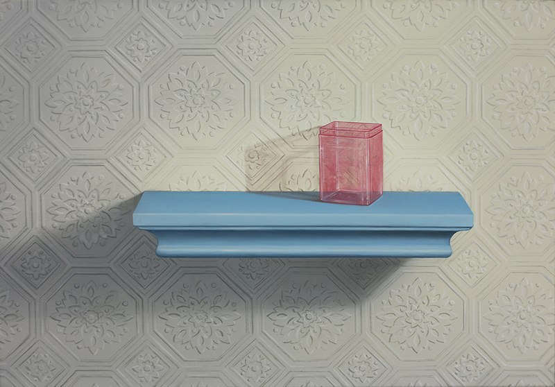 Emily Hartley-Skudder  Wallpaper Relief , 2017 Oil on linen 355 x 550 mm [Private collection]  _______