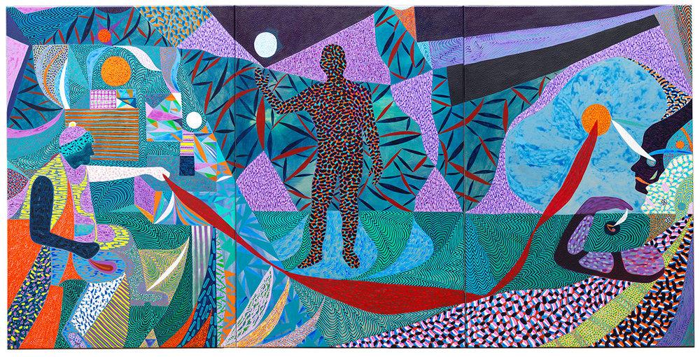 Arie Hellendoorn  Morphology , 2017 Acrylic on linen 1200 x 2400 mm  _______