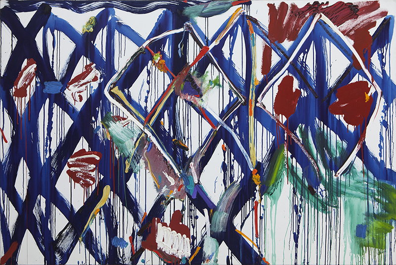 Allan Maddox  Lattice (We Too) , 1999-2000 Oil on canvas 1215 x 1825 mm  _______
