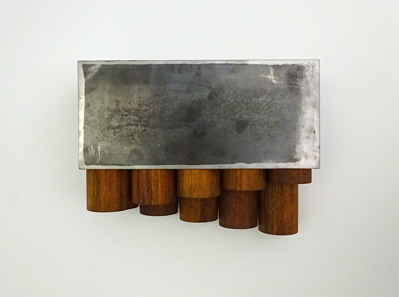 Anton parsons  Denary , 2017 Corten steel and Kwila 370 x 420 x 130 mm $5,000 incl. GST  ______